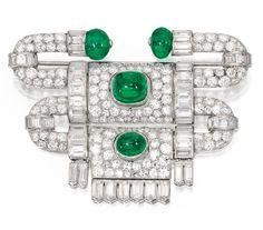 Platinum, Emerald and Diamond Brooch, Van Cleef & Arpels, France, 1927