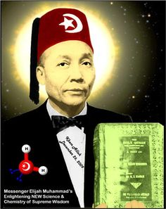 This is The Nation of Islam prophet Elijah Muhammad wearing the Fez - notice the symbolism - Crescent and the star compare to the Shriners