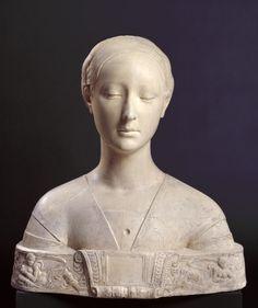 Cast of a bust of Ippolita Maria Sforza, ca. 1473 after Francesco Laurana.