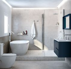 Dreaming of a designer or luxury bathroom? We've gathered together lots of gorgeous bathroom ideas for small or large budgets, including baths, showers, sinks and basins, plus bathroom decor ideas. Bathroom Layout, Modern Bathroom Design, Contemporary Bathrooms, Bathroom Sets, Bathroom Faucets, Bathroom Interior, Master Bathrooms, Bathroom Mirrors, Bathroom Cabinets
