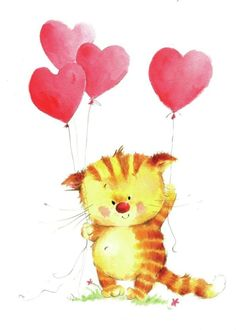 Cat_heart_balloons.psd