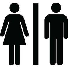 Unisex Bathroom Sign - Funny sticker for your toilet - vinyl decal - Throne Stickz. $7.95, via Etsy.