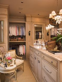 Closet.  It would be cool to do make up and hair in closet and the bathroom be for just showering.