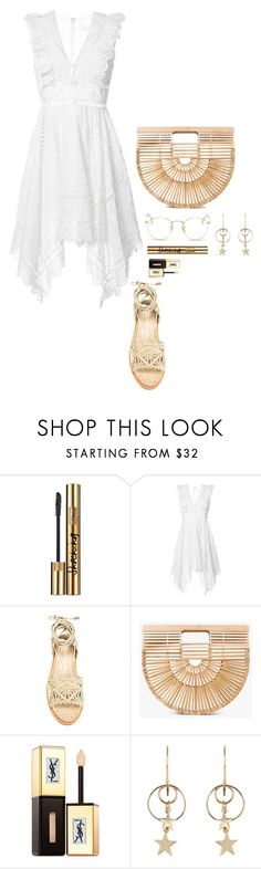 """⛅️⛅️⛅️⛅️⛅️"" by beautyinl ❤ liked on Polyvore featuring Yves Saint Laurent, Zimmermann, Paloma Barceló, Cult Gaia, Ray-Ban, Summer, chic, CasualChic and 2017"