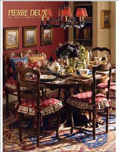 cozy french country dining