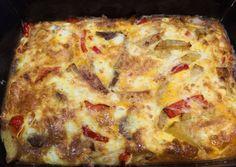 Ομελέτα φούρνου με πατάτες (σαν τηγανιτές) συνταγή από 🌼Stella🌼 - Cookpad Lasagna, Pizza, Cheese, Ethnic Recipes, Food, Essen, Meals, Yemek, Lasagne