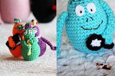 mest virkat: Virka familjen Barbapapa, gratis virkmönster Some Ideas, Coin Purse, Crochet Hats, Beanie, Diy Crafts, Purses, Wallet, Baby, Ideas