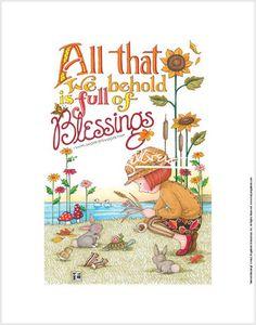 """Behold Blessings"" Fine Print"