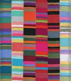 Kaffe Fassett's Serape print - in simple strips, one of each colorway. Gorgeous!