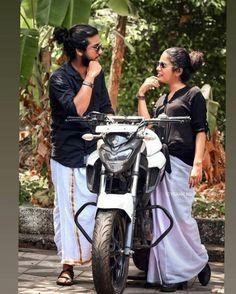 Biker Photography, Cute Couples Photography, Kerala Wedding Photography, Romantic Couple Images, Couples Images, Romantic Couples, Bike Photoshoot, Couple Photoshoot Poses, Biker Couple