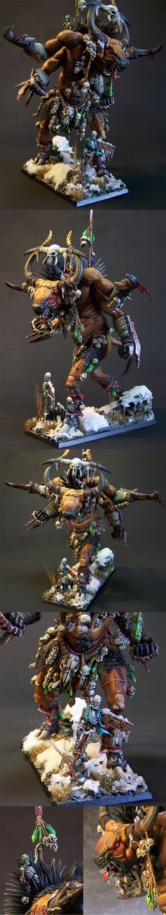 CoolMiniOrNot - Beastmen Ghorgon by Æsir mini