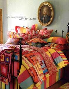 Honestly I love everything this man does...Kaffe Fassett quilts for Pine Cone Hill -- we have one in our guest room...