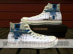 Star Wars R2-D2 Converse All Star Sneaker Custom Hand Painted shoes