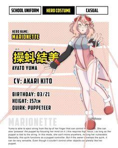 Super Hero Outfits, Super Hero Costumes, Anime Oc, Girls Characters, Hero Academia Characters, My Hero Academia Costume, Boko No Hero Academia, Anime Crafts, Ayato