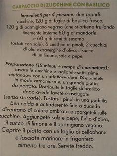 Carpaccio di zucchine con basilico