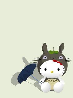 Hello Kitty Totoro Vector by ~Katsumaru on deviantART
