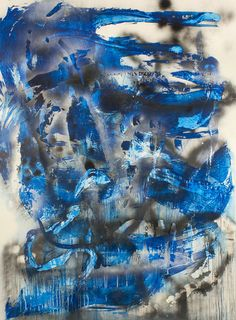 Chris Trueman, 'Blue/Black/White,' 2015, Acrylic & acrylic spray paint on Yupo mounted to Sintra