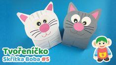 Tvořeníčko skřítka Boba #5 - Kočky | Nápady na vyrábění z papíru pro děti