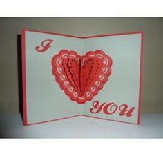 Réalisez une carte avec un coeur en relief pour la St Valentin : Odile S
