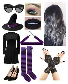 """Last Minute Witch"" by magoo3514 ❤ liked on Polyvore featuring Topshop and Le Specs"