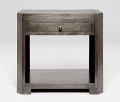 Bedroom | Made Goods  zinc nightstand 30l 18w 28h