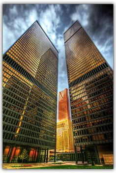 These were the tallest buildings in T.O. in '67. My first trip to the top of the world...Toronto Dominion Centre, via Flickr.