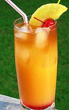 Mai Tai 1 ounce Light Rum .5 ounce Triple Sec .5 ounce Amaretto 1 ounce Dark Rum 2 ounce Orange Juice 2 ounce Pineapple Juice .5 ounce Grenadine Yes Please!.