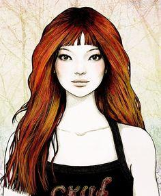 Pretty Girl Portrait girl art pretty painting portrait
