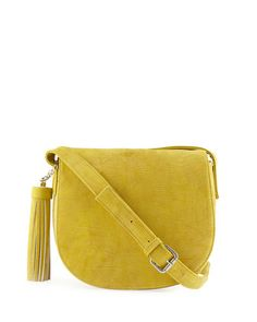 Reptile-Embossed+Tassel+Saddle+Bag+by+Neiman+Marcus+at+Neiman+Marcus+Last+Call.