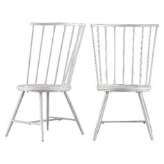 Norfolk High Windsor Dining Chair Metal/White (Set of 2) - Inspire Q : Target