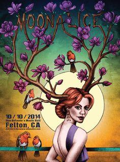 Moonalice - 10-10-14 - Don Quixote's Music Hall, Felton, CA - Artist: Lauren Yurkovich
