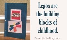 LEGO lapbook for elementary age and up.  I have never made a lapbook but might make one now!