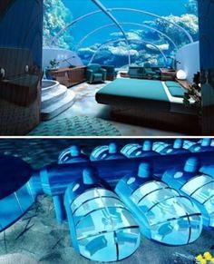 Undersea suite at the poseidon resort, Fiji