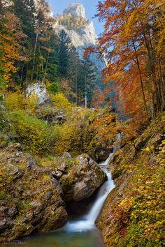 Autumn colours at Baerenschuetzklamm Gorge in Styria,Austria