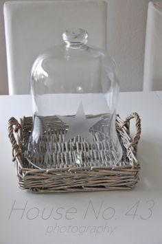 House No. 43: satinierter Stern auf Glas - satined star on glas