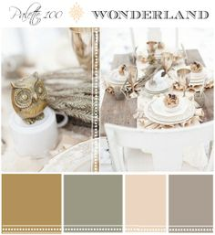 winter wedding color palette- add some blue, red and green accents and it's perfect :)