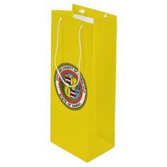 Flag of city of Honolulu Hawaii Wine Gift Bag - craft supplies diy custom design supply special