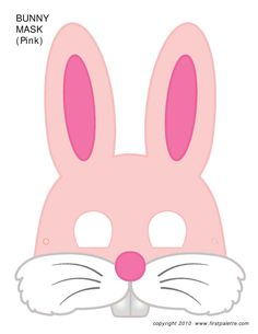 Today we share inexpensive, fun and easy Easter craft ideas for kids! Lots of Easter egg crafts as well as free bunny mask printables that your kids can color! Printable Halloween Masks, Printable Animal Masks, Easter Bunny Template, Bunny Templates, Animal Masks For Kids, Mask For Kids, Mascaras Halloween, Bunny Mask, Mask Template