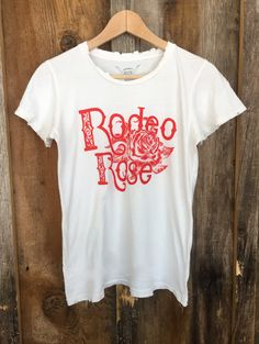 Rodeo Rose Womens Tee White/Red