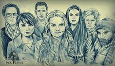 The Residents of Storybrooke by Jack Flamel.