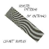 Peyote Bracelet Patterns by Extrano  Op Art Ruffles  by Extrano, $6.50