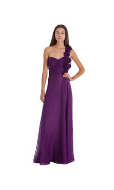 a611b9e76f82 Js Collections Rosette One-Shoulder Gown AMETHYST One Shoulder Gown
