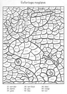 Coloriage à imprimer : Chiffres et formes - Coloriages magiques numéro 758797