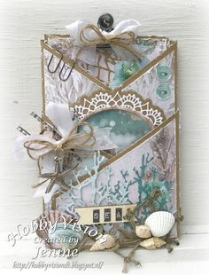 Jenine's Card Ideas: Scrap 'n Chat 15 - Summer Feelings Wedding Cards Handmade, Handmade Tags, Fun Fold Cards, Folded Cards, Ideas Scrap, Cascading Card, Craft Paper Storage, Album Scrapbook, Nautical Cards