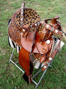 western leather barrel show pleasure saddle leopard Cowgirl And Horse, Western Horse Tack, Western Riding, Cowgirl Chic, My Horse, Horse Love, Western Saddles, Horses, Cowgirl Style