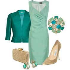 A fashion look from August 2013 featuring Alexon dresses, Minuet Petite jackets y Jimmy Choo pumps. Browse and shop related looks.