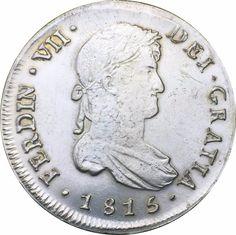 Chile 1815(FJ) 8 Reales -Fernando VII Brass Plating Silver Copy Coin