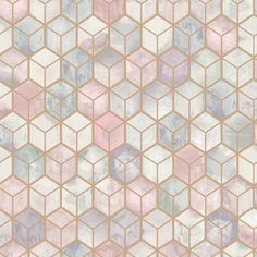 Walls Republic Metallic Weathered Cubes 33 L x 21 W Wallpaper Roll Color Navy Pink Wallpaper Home, Pink Wallpaper Living Room, Brick Wallpaper Roll, Wallpaper Panels, Peel And Stick Wallpaper, Wall Wallpaper, Pattern Wallpaper, Geometric Wallpaper Design, Geometric Background