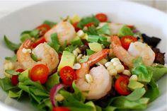 Shrimp & avocado goddess salad