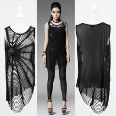 Black Spider Cobweb Alternative Brooch Cover Up Tunic Tops Clothing Shop SKU-11409124